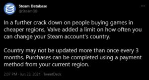 SteamDB on twitter