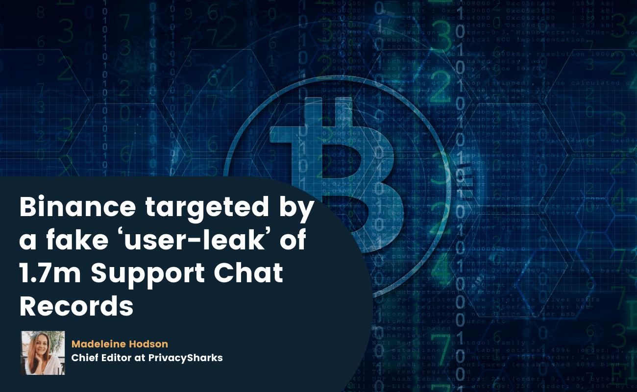 binance targeted by fake user leak